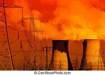 Power station in red