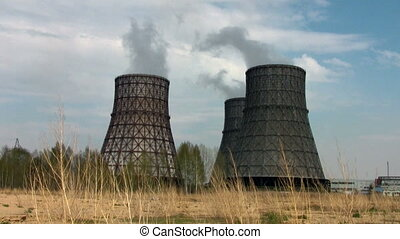Power station in the summer