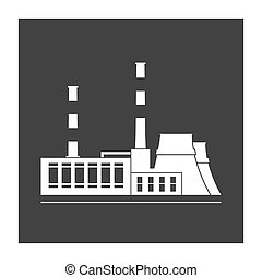 Power station. Isolated on background. Vector illustration