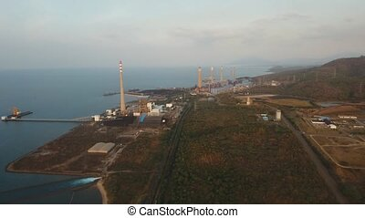Power station. Jawa, Grati CCGT Power Plant Indonesia -...