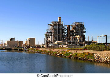 Power Station - Natural gas power plant near Ventura...