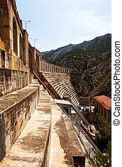 power station on Segre river. Lleida