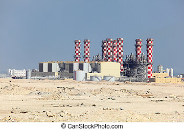 Power station plant in Bahrain, Middle East
