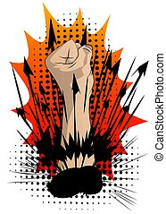 Power strength fist Fight for your rights.