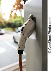 Power supply for electric car charging, Electric car charging station