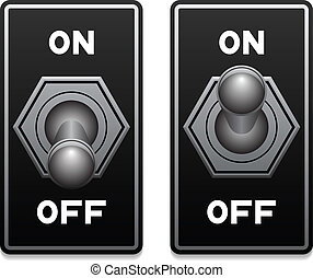 power switch in on and off position