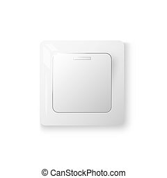 Power switch realistic 3d object