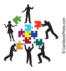 Power Team - Concept for successful teamwork and...