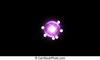 power tech electron energy field launch rays laser & magic ball in darkness