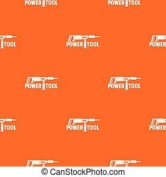 Power tool drill pattern vector orange