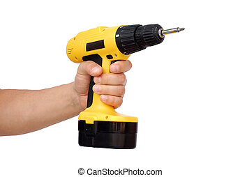 Power tool - Hand with power tool