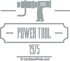 Power tool logo, simple gray style