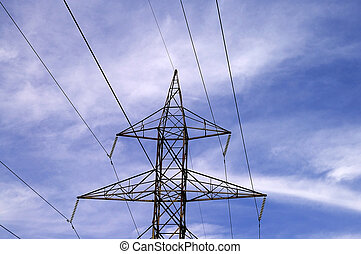Power Transmission - A high-voltage high tension power...