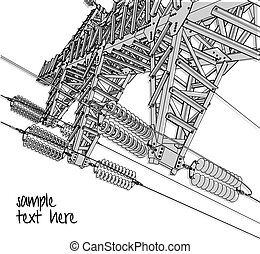Power Transmission Line, vector