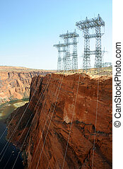 Power Transmission Lines at Glen Canyon Dam