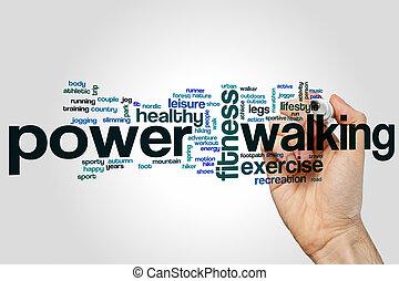 Power walking word cloud