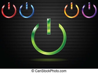Power website elements. Eps 10 vector design