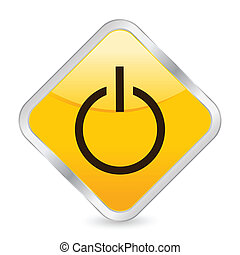 power yellow square icon