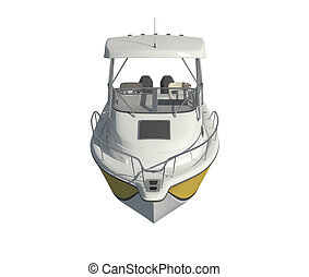 Powerboat Isolated on white background 3d illustration
