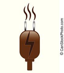 Powered By Coffee Bean Plug