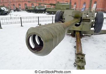 Powerful artillery gun.