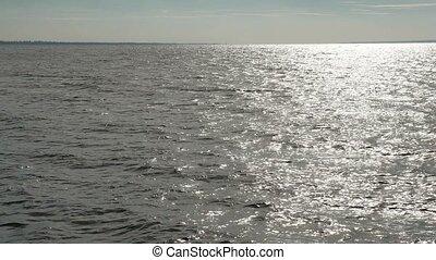powerful blue sea ocean waves breaking natural background...