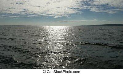powerful blue water sea ocean waves breaking natural background