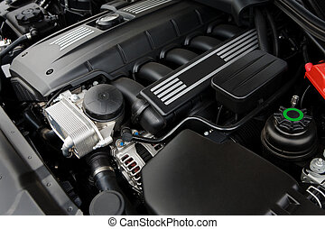 powerful engine - The powerful engine of the modern car