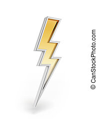 Powerful lighting symbol  isolated on a white background