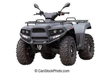 Powerful modern ATV, isolated on white background