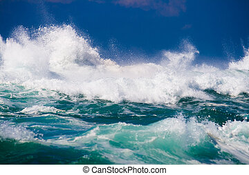 powerful ocean wave