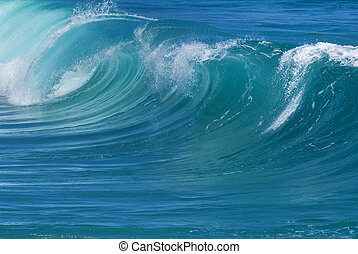 Powerful ocean waves natural background