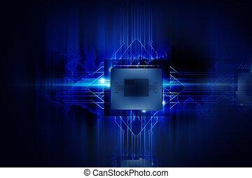 Powerful Processor - Nano Technology - Computers Background....