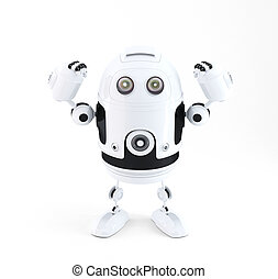 Powerful robot. Technology concept. Isolated