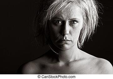 Upset Blonde Woman