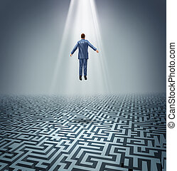 Powerful Solutions - Powerful solutions with a businessman...