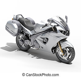 Powerful sportbike isolated - Powerful sports motorcycle...