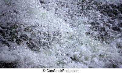 Powerful waterfall in slow motion