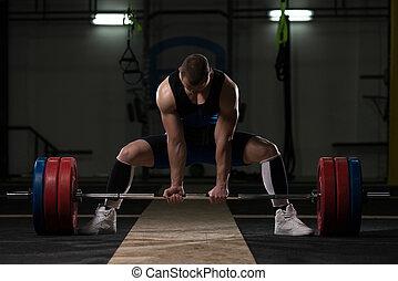 powerlifter, exercício, pesado, powerlifting, peso, deadlift, barbell