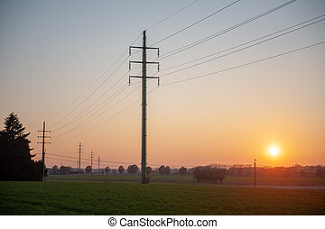 Powerlines in the Flemish Country side