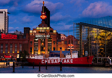 powerplant, chesapeake, aquarium, feuerschiff, baltimore