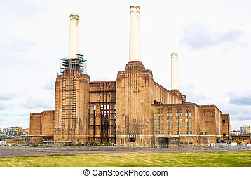 powerstation, londres, hdr, battersea