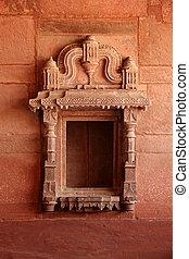 powierzchnia, hindus, sikri, fatehpur, indie, agra, świątynia