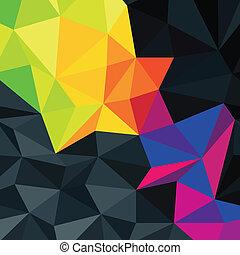 powierzchnia, vector., barwny, abstrakcyjny, tło, accented, triangle