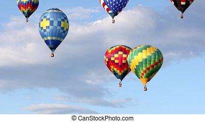 powietrze, balony, gorący