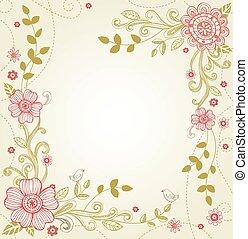 powitanie, dzień, ślub, valentine, albo, karta