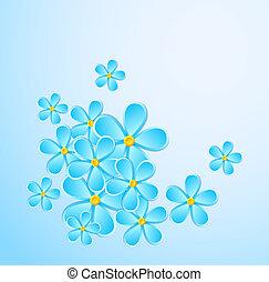powitanie karta, z, papier, flower.