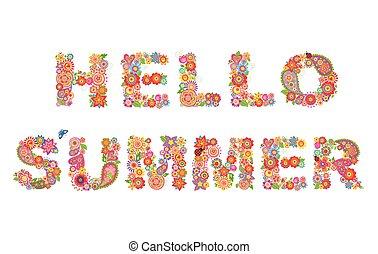 powitanie, lato