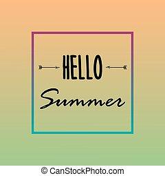 powitanie, lato, tło, wektor, ilustracja, eps.10