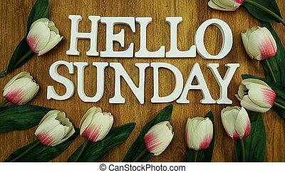 powitanie, niedziela